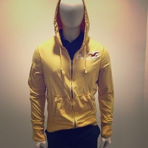 Yellow Hollister Graphic Hoodie